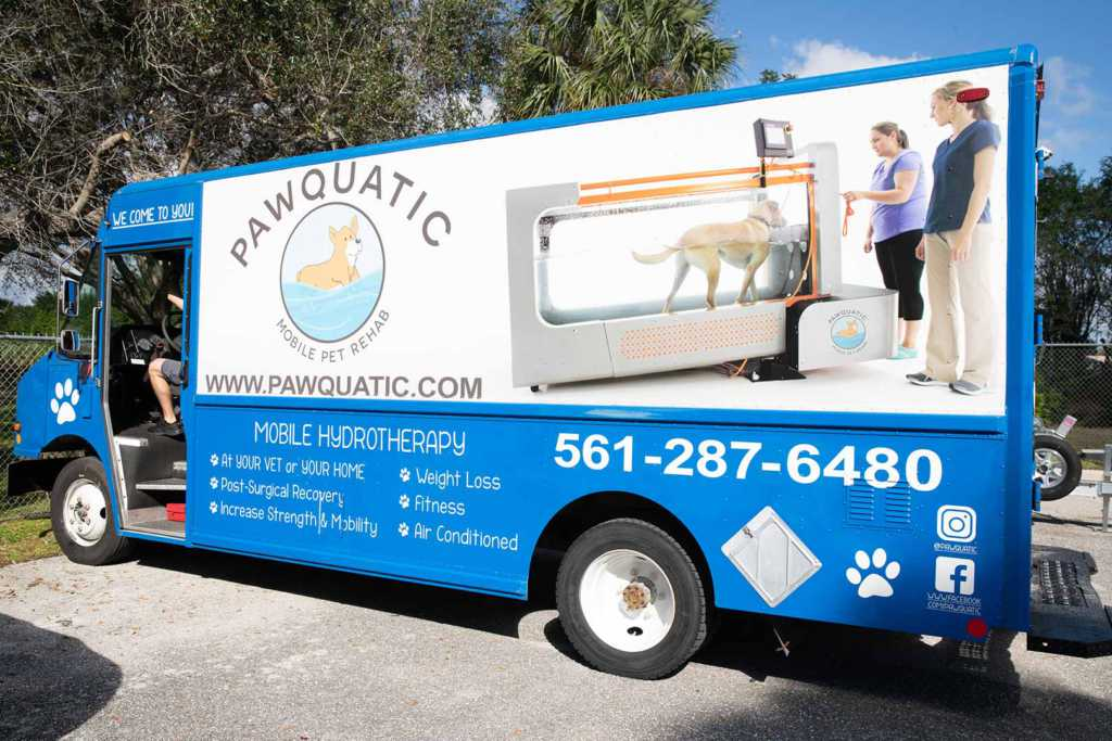 Injury rehab & physical therapy provided by pawquatics mobile pet rehab.